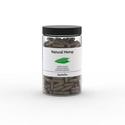 Natural Hemp Kapsler (CBD Kapsler), 250 stk.