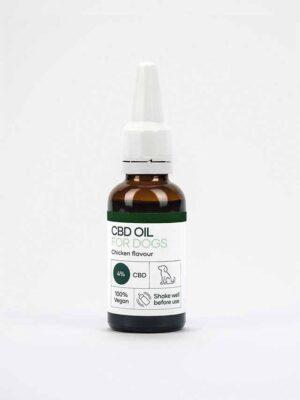 CBD olie til hunde med kylling aroma i en 30ml flaske