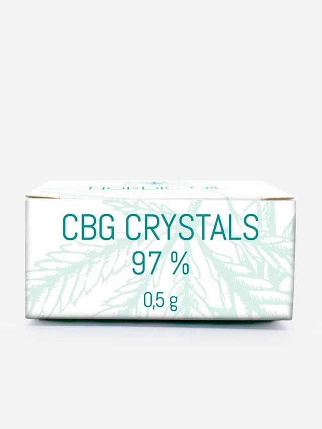 CBG krystaller med 97% CBG i æske